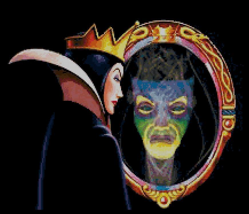 Disneys Snow White Evil Queen Mirror Mirror On The Wall X Stitch